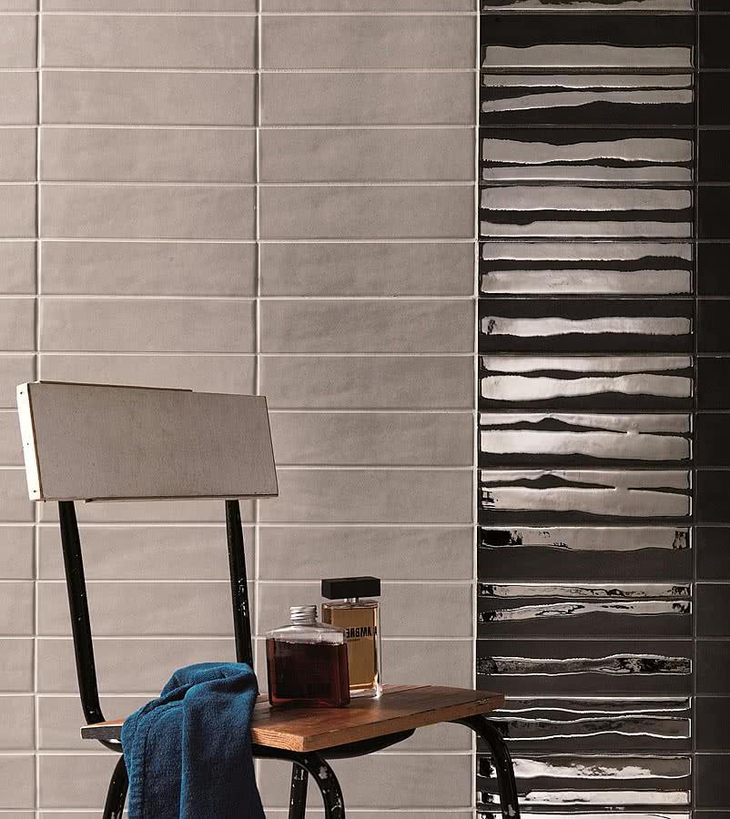 Piastrella in gres porcellanato effetto mattone cemento - Piastrelle effetto mattone ...