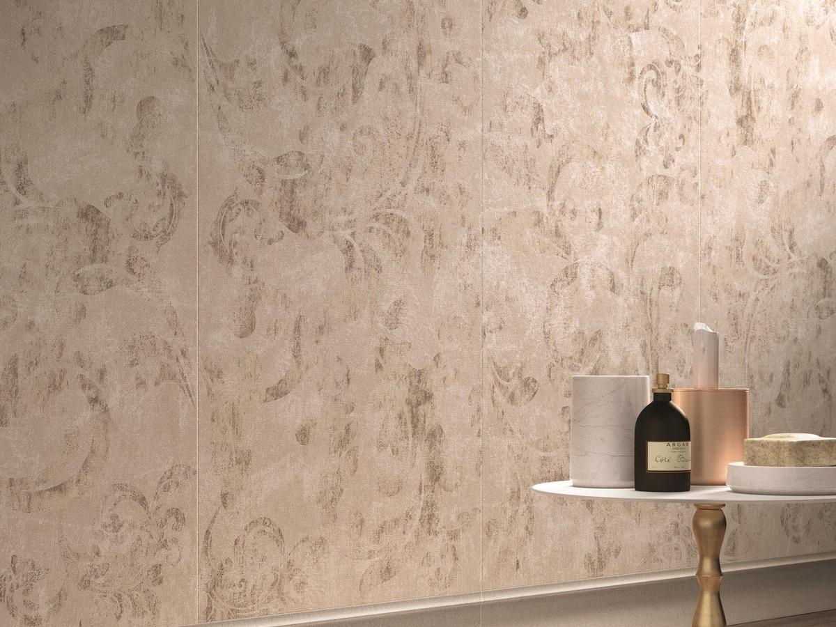 Carta Da Parati Tessuto piastrella in gres porcellanato effetto tessuto (carta da parati) beige -  ariana canvas | 114,00 €/pz