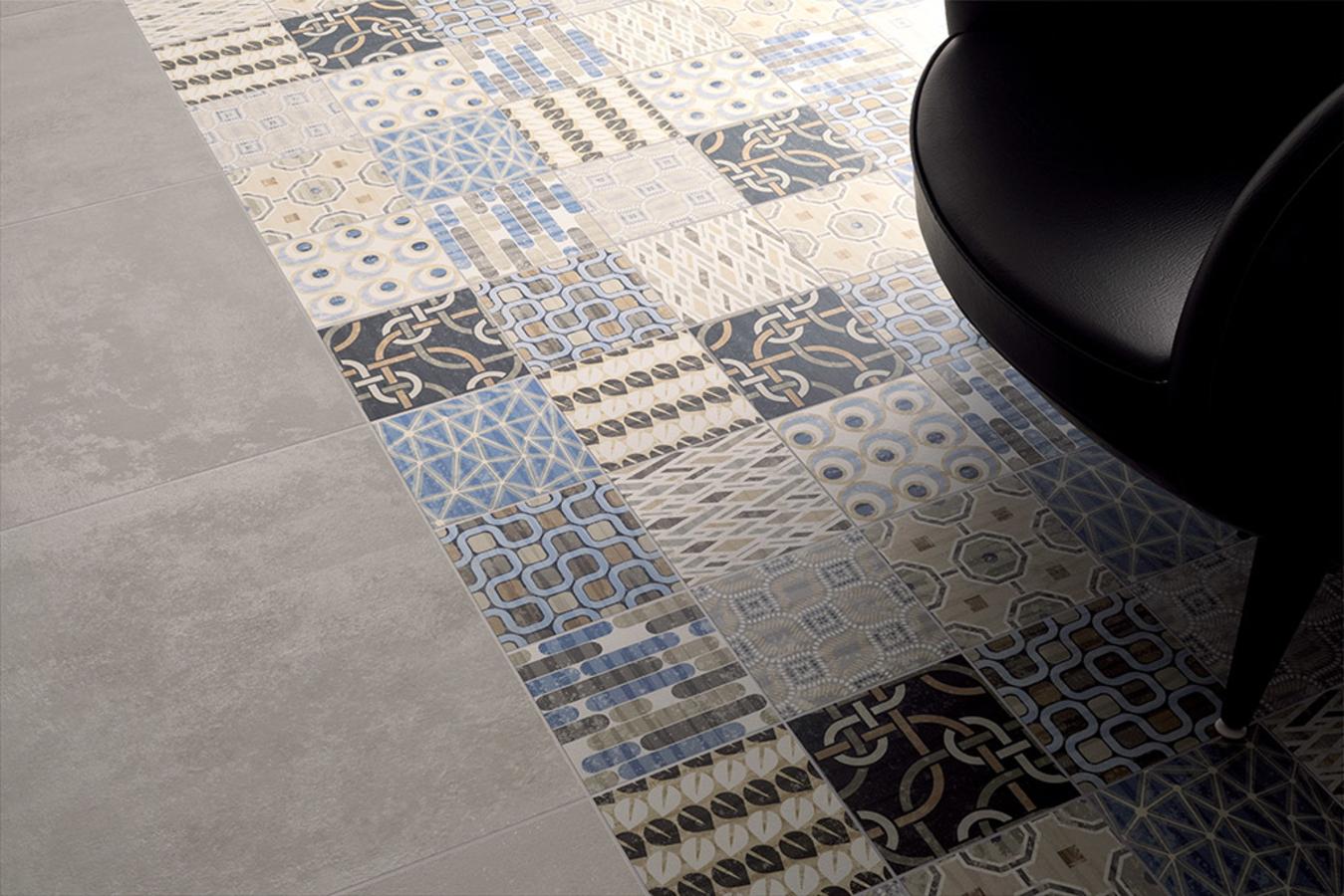 Piastrella in gres porcellanato stile: patchwork design fioranese
